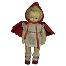 Vintage Wool Felt Cloth Little Red Riding Hood