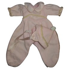 "Vintage Effanbee 15"" Dy-Dee Snowsuit With Hat"