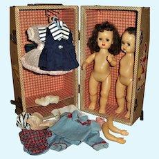 Case Lot Excellent Tiny Terri Lee With Clothes, Shoes Plus Extra Parts Tiny Terri Lee