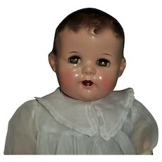 "Beautiful 25"" Ideal Flirty Eye Composition-Cloth Baby Doll"