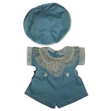 "Effanbee 13"" Dy-Dee 1930s Molly'es Tagged Romper With Hat"