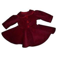 RARE  P-90 Toni Original Ideal Red Velvet Coat