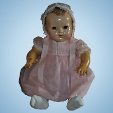 """Vintage Pink Party Dress And Bonnet For Effanbee 20"""" Dy-Dee Lou"""