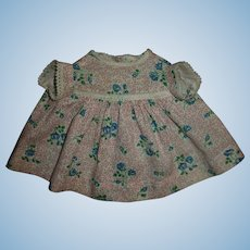 """Pretty Cotton Day Dress For 13"""" Effanbee Dy-Dee or American Character Tiny Tears"""