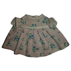 "Pretty Cotton Day Dress For 13"" Effanbee Dy-Dee or American Character Tiny Tears"