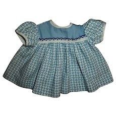 "Vintage Blue Cotton Day Dress For 12""-13"" American Character Tiny Tears"