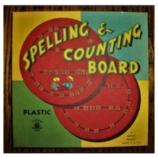 Vintage Spelling And Counting Board~Bar-Zim Product
