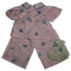 """Vintage Factory Adorable """"Rich Man~Beggar Man"""" PJs For 18"""" American Character Tiny Tears & Friends"""