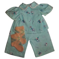 "Vintage Adorable ""Rich Man-Beggar Man"" PJs For 18"" American Character Tiny Tears & Friends"