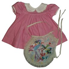 "Pink Day Dress and Mermaid Apron For Effanbee 15""Dy-Dee Jane MINT!!"