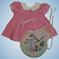 """Pink Day Dress and Mermaid Apron For Effanbee 15""""Dy-Dee Jane MINT!!"""