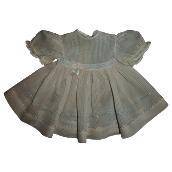 Lovely Vintage Windowpane Baby Doll Dress Possibly Madame Alexander