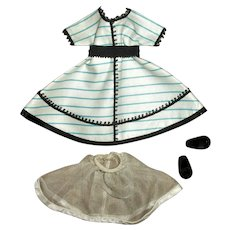 "American Character 10.5"" Toni ~Tea Time~Dress, Belt, Slip & Shoes"