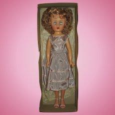 "1950's 19"" Revlon Type Fashion Doll Near Mint In Box"