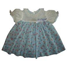 Vintage Early Effanbee Dy-Dee Jane Dimity Dress