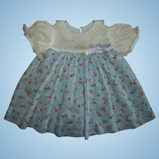 Vintage Early Effanbee Dy-Dee Jane Dimity Dress