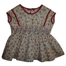Vintage Dress With Smocked Waist For Chubby Body Girl Dolls