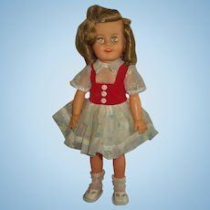 "Vintage Ideal 15"" Vinyl Shirley Temple MINT!"