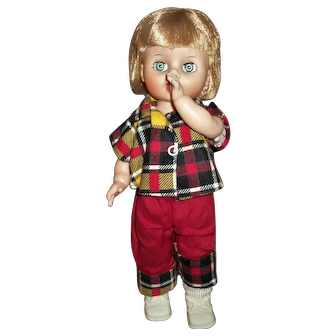 "1950s Uneeda ""Prithilla"" Thumb Sucking Toddler Doll"