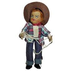 Vintage Tiny Town Cowboy Doll