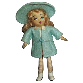 Little Girl Tiny Town Doll Wearing
