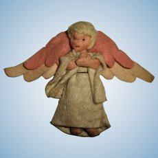 "Vintage Made In Germany 4"" Cloth Angel Doll"