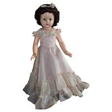 "21"" Composition Effanbee Ann Shirley Little Lady In Original Formal"