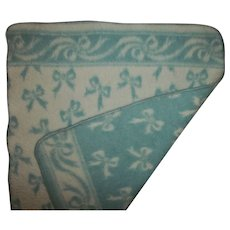 Effanbee Dy-Dee Doll Reversible Eiderdown Ribbon Bows Blanket