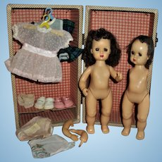 2 Dolls and Clothes Tiny Terri Lee Trunk Lot