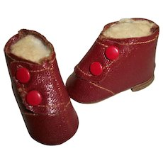 Madame Alexander Red Oilcloth High Top Snap Shoes