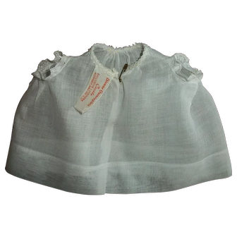 "Tagged Madame Alexander Dionne Quint 11"" CECILE Baby Gown"