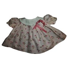 """Cute Vintage Red and Blue Cherry Print Baby Doll Dress Fits 13"""" American Character Tiny Tears"""