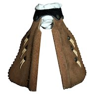 Vintage 1930s Small Pair of Leather Cowboy Chaps