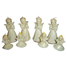 Vintage Set of 8 Gurley Christmas Angel Candles