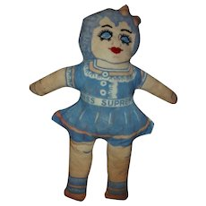 Vintage Supreme Flour Promo Feedsack Cloth Miss Supreme Doll