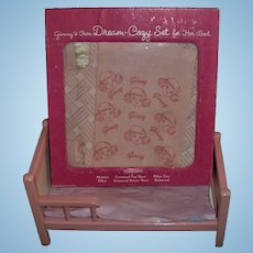 9669938c1a Vintage Vogue Ginny Bed and Boxed Set of Ginny Dream-Cozy Bed Linen