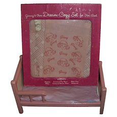 Vintage  Vogue Ginny Bed and Boxed Set of Ginny Dream-Cozy Bed Linen