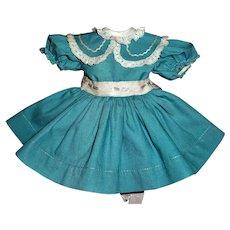 "Vintage Ideal P-91 16"" Toni Turquoise Dress"
