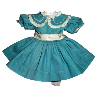 "Vintage Ideal P-91 16"" Toni Turquoise Dress"