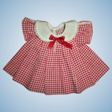 1930s Ideal Shirley Temple Loopy Trim Dress