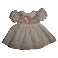 Pretty Pink Factory Dress For Toddler or Baby Doll