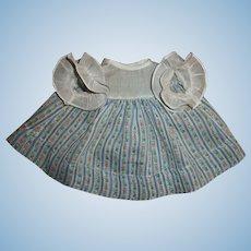 """Vintage Older Effanbee 13"""" Dy-Dee Dimity Dress"""