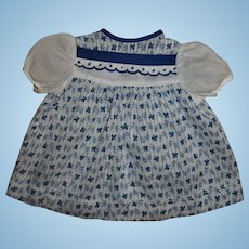 Effanbee Dy-Dee Jane Blue and White Dimity Dress