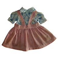 Jumper~Suspender Skirt With Blouse For Bisque or Early Composition Girls