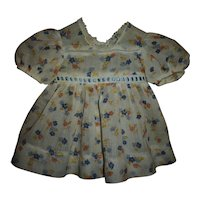 """Factory Vintage Pretty Flowered Dress For 18"""" Composition Chubby Girl Dolls"""