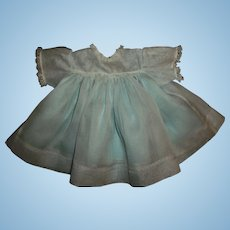 Pretty Organdy With Blue Attached Taffeta Slip Madame Alexander Baby Doll Dress
