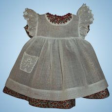 Tagged Madame Alexander Composition McGuffey Ana Dress and Pinafore