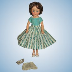 Lovely Vogue Jan Doll Wearing Tagged Vogue Dress With Shoes & Unders