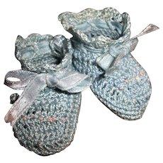 Effanbee Dy-Dee Doll  Blue Silk Booties