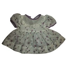 "Purple Rosebud Dimity Dress For Effanbee 15"" Dy-Dee Jane"